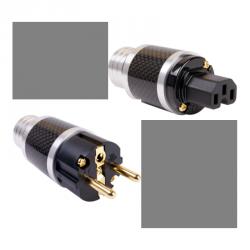 Juego de conectores Shucko-IDE Elecaudio Carbono
